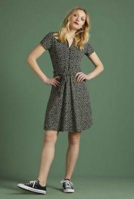 zwarte jurk met bloemenprint emmy dress 05576