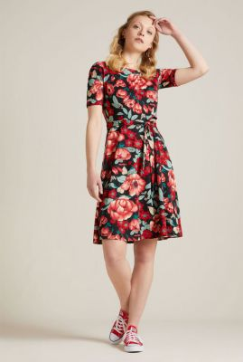 viscose jurk met bloemen dessin betty dress kimora 05647