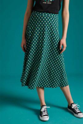 groene midi rok met grafische print juno skirt pose 05684