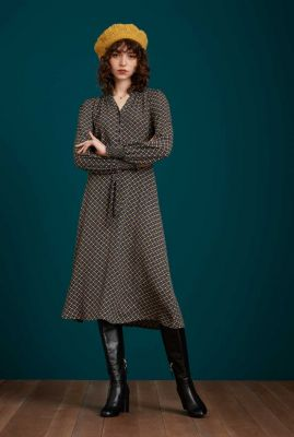 jurk met all-over grafisch dessin emma dress stanton 06731