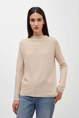 beige gebreide trui van biologisch katoen medinaa 10252348