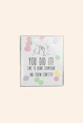confetti kaart you did it  1055507