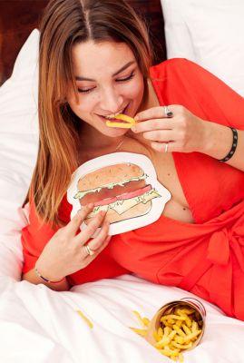 kaart in de vorm van een hamburger  1066608