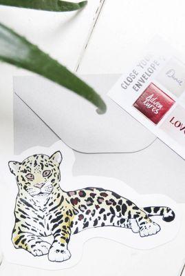 kaart in de vorm van een luipaard 1066614