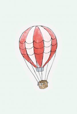 kaart in de vorm van een luchtballon  1066615