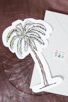 kaart in de vorm van een palmboom  1066616