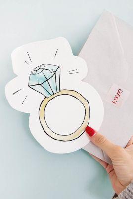 kaart met diamanten ring  1066620