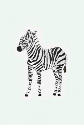 kaart in de vorm van een zebra  1066623