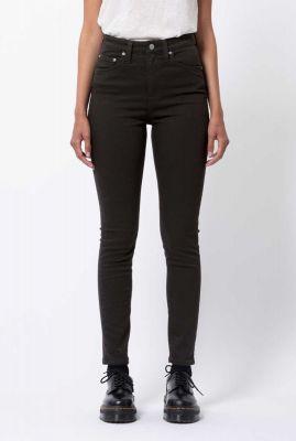 zwarte highwaist skinny jeans 113021 hightop tilde ever black
