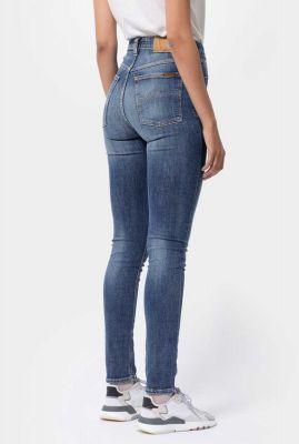duurzame high waist skinny jeans hightop tilde mid indigo 113091