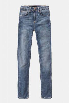 donker blauwe duurzame skinny jeans hightop tilde mid indigo 113091