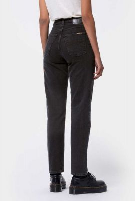 zwarte high waist tapered jeans breezy britt black 113322