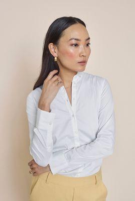 klassieke blouse met getailleerde fit tilda sustainable shirt 131700