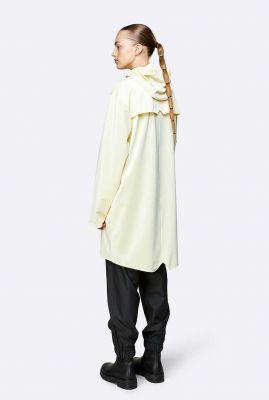 parel kleurige waterdichte regenjas long jacket 1202 pearl