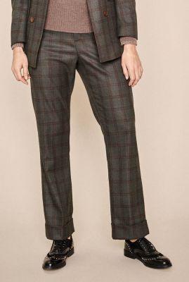 donker groene broek met ruit dessin becky cohan pant 135512