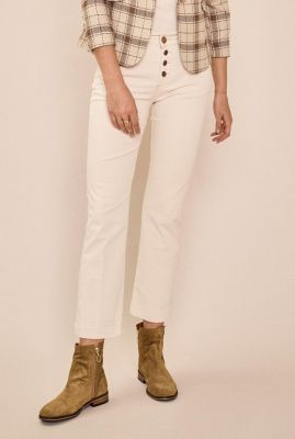 crème kleurige enkel jeans ashley cream jeans 137300