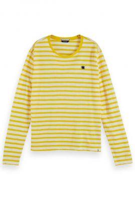 geel gestreept shirt met lange mouw 157060