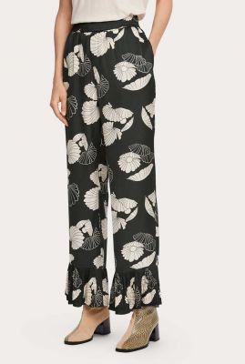 viscose broek met all-over print 159415