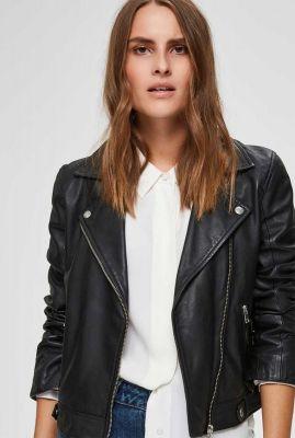 zwarte leren jas met ritssluiting katie jacket noos 16071712