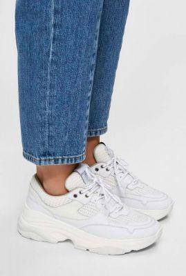 witte chunky sneaker met mesh details gavina trainer noos 16073823