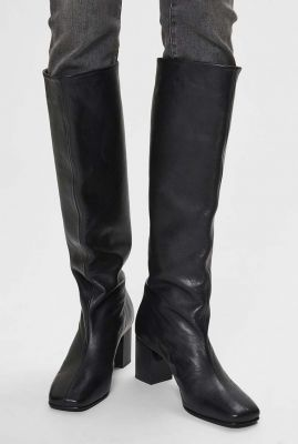 hoge zwart leren laarzen zoey high leather boot 16075979