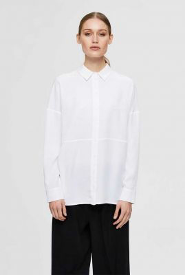 klassieke witte blouse met lage schouders trixy ls noos 16077101