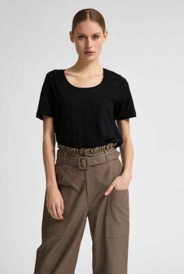 basis t-shirt met ronde hals standard u-neck noos 16077339