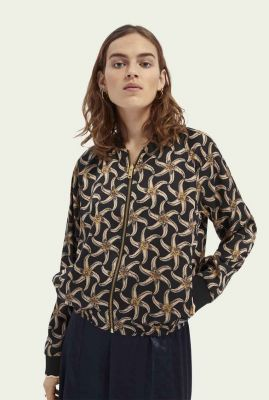 reversible bomber jas met zomerse all-over print 161652
