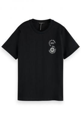 zwart t-shirt met tekst opdruk van (bio) katoen 161708