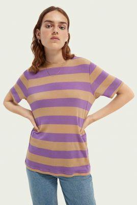 paars gestreept t-shirt van ecovero mix 162529