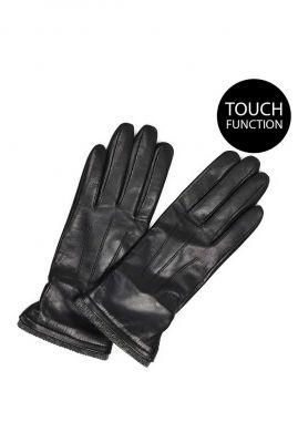 zwart leren handschoenen met touch functie  miriam glove