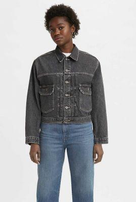 korte grijze denim spijkerjas trucker jacket 17727-0005