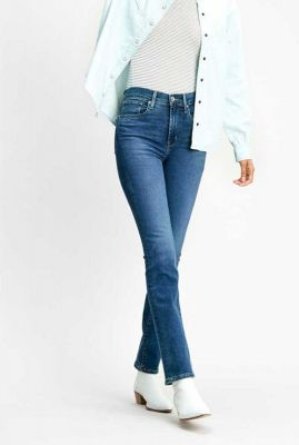 724 high-rise straight jeans medium blauw 18883-0075