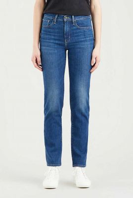 donkerblauwe high rise straight jeans 18883-0139