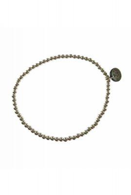zilveren elastische armband met kralen 2001A57
