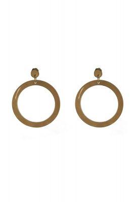 ronde beige oorbellen 3.5 cm 2001B20