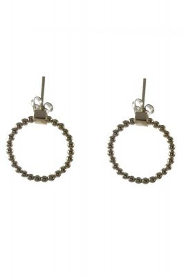 zilveren oorbellen met bolletjes 2001B65