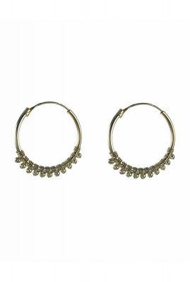 zilveren oorbellen met balletjes 2001B67
