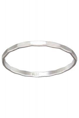 zilveren gehamerde ring maat M 2001R17