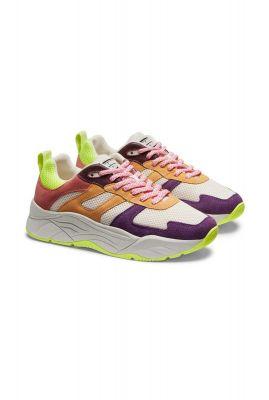 suéde leren sneakers celeste mesh colour block 20733550