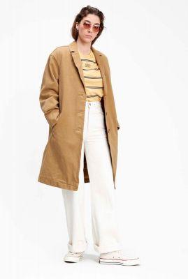 licht bruine trench coat luna coat 85342-0000
