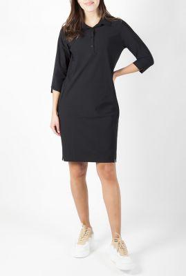 zwarte travel jurk met knoopsluiting 211juulz