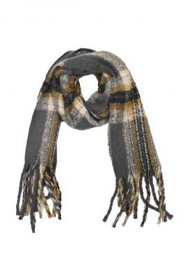 geruite sjaal met grote franjes 21277801