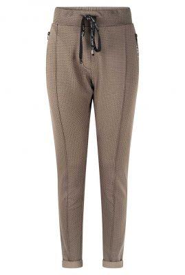 taupe broek met zigzag dessin 215denise