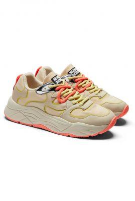 gekleurde synthetisch suède sneakers celest 22733693