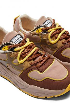 gekleurde faux suède sneakers celest 22733693