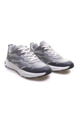 sportieve grijze sneaker van mesh 22739782