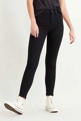 zwarte high waist jeans mile high super skinny 22791-0052