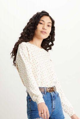 sweater met bloemen standard crewneck sweatshirt 24688-0003