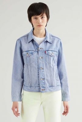 licht blauw spijkerjasje ex-boyfriend trucker jacket 29944-0149